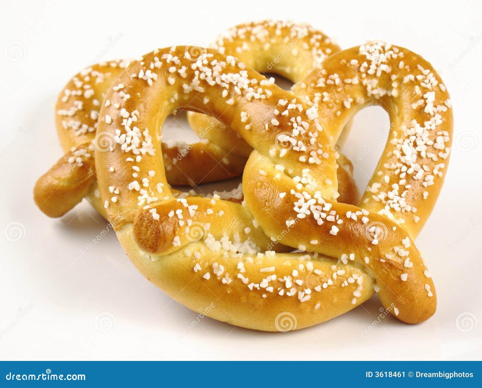 Dos pretzeles suaves