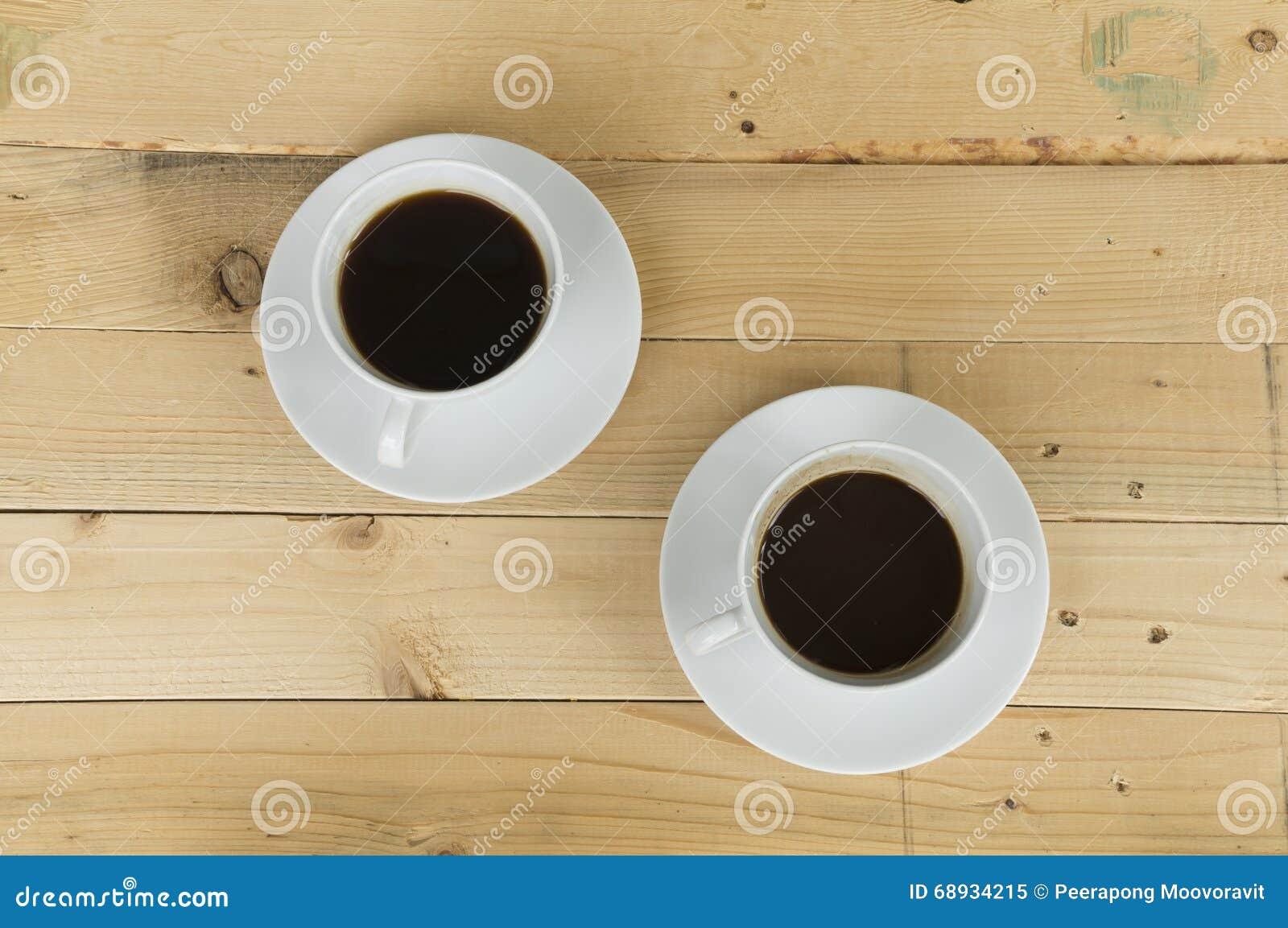 Dos tazas de mañana del café