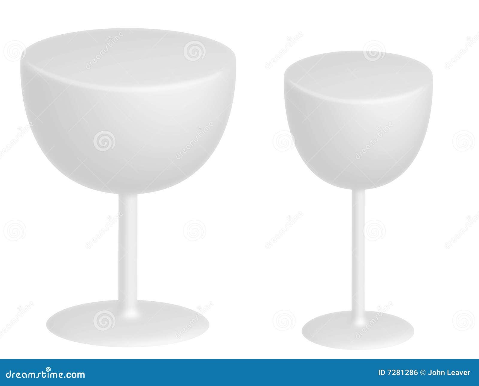 Dos vidrios blancos