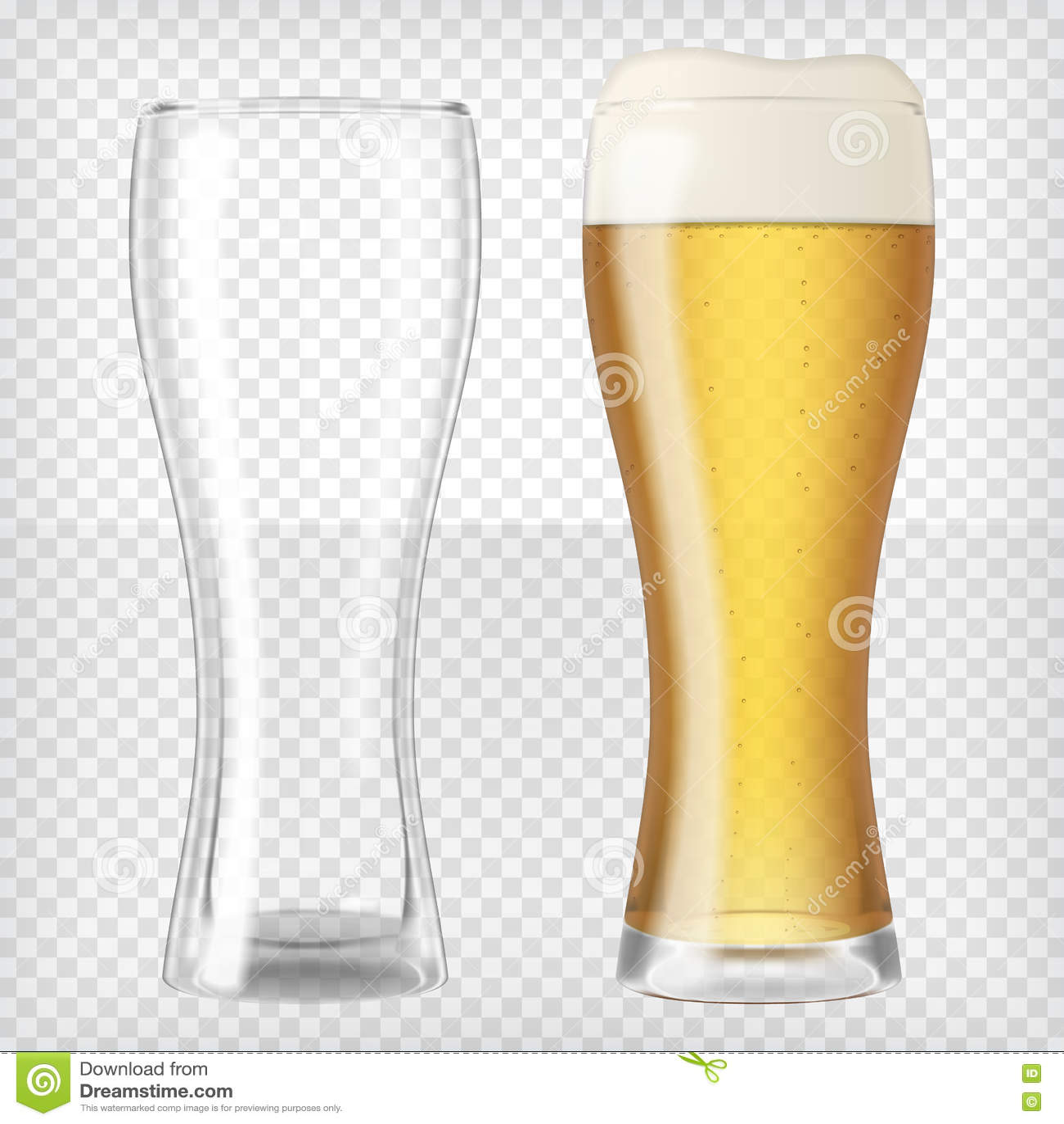 Dos vidrios de cerveza