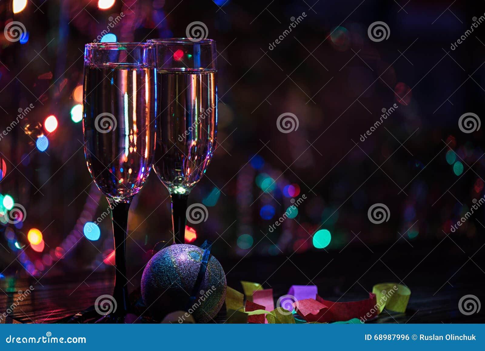 Dos vidrios del shampagne