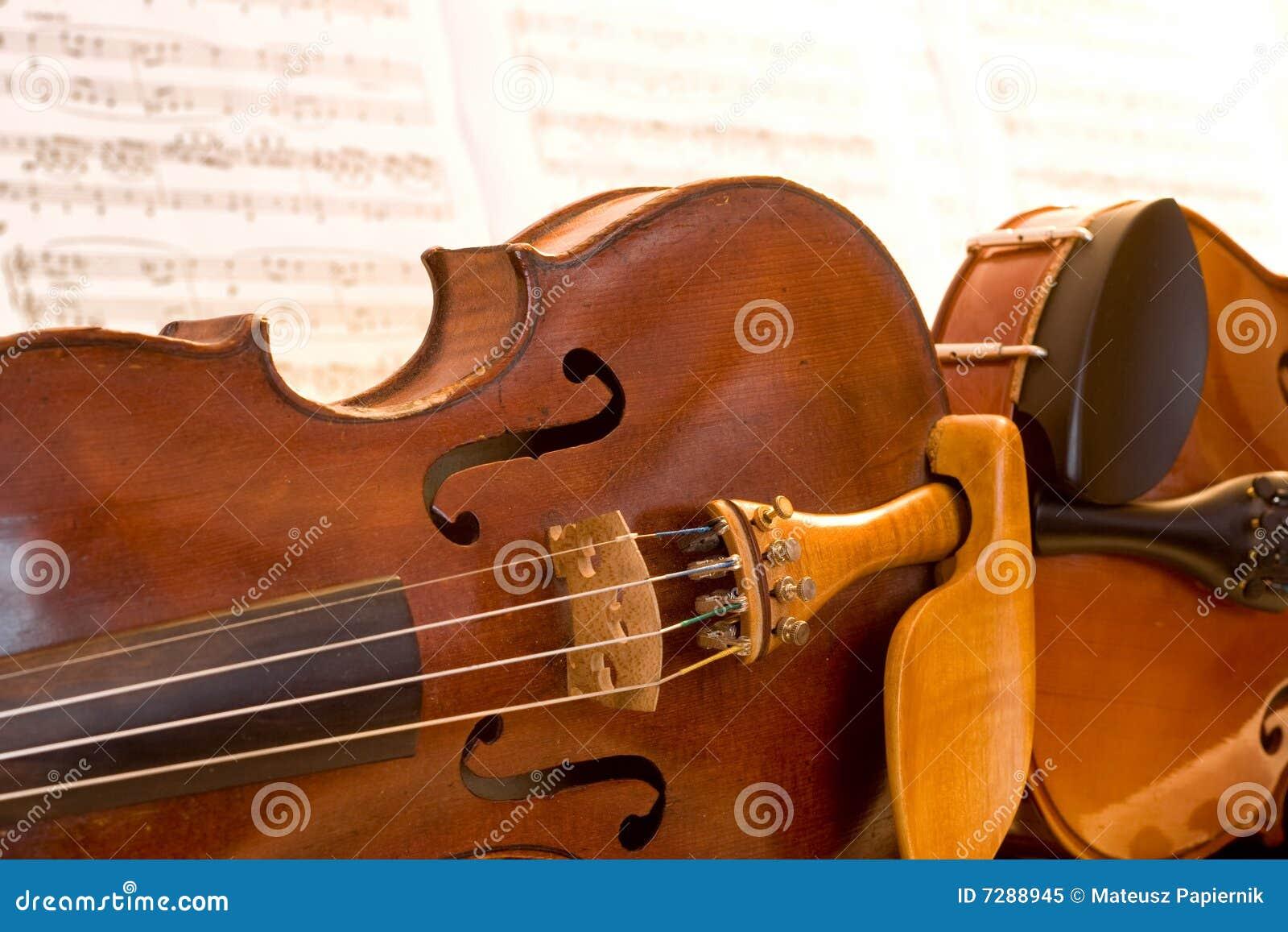 Dos violines que mienten de lado a lado