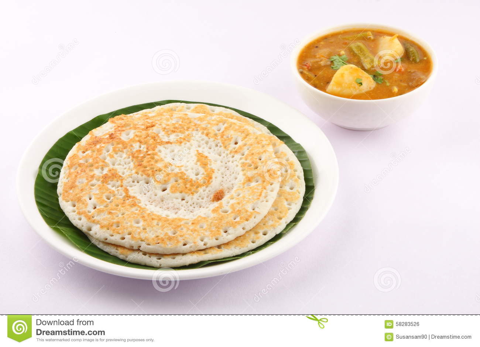 Dosa en sambar - Indisch traditioneel ontbijt