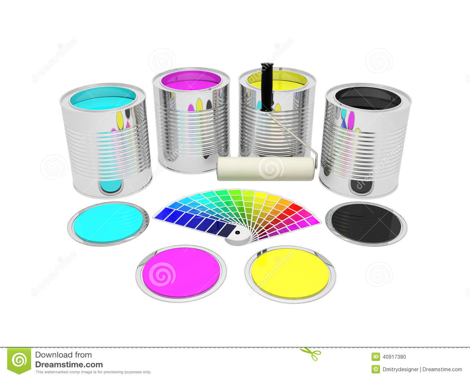dosen mit farbefarbe und pantone stock abbildung bild 40917380. Black Bedroom Furniture Sets. Home Design Ideas