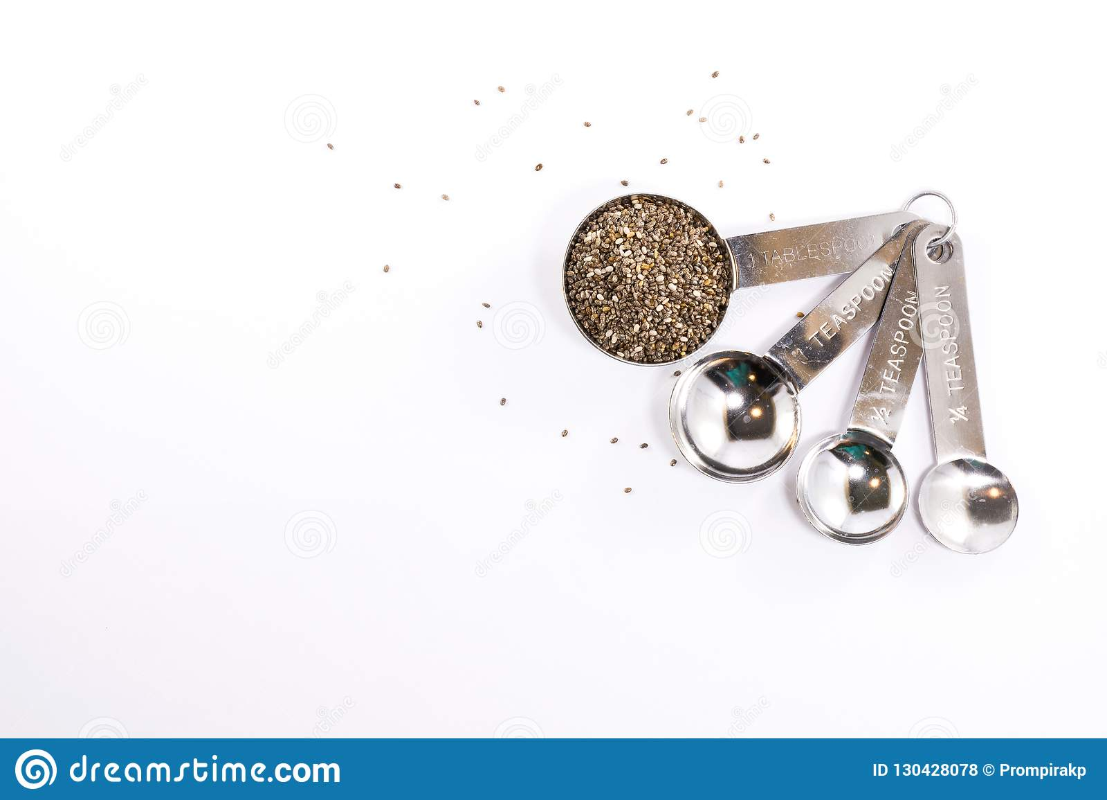 Doseurs d acier inoxydable avec des graines d usine d isolement