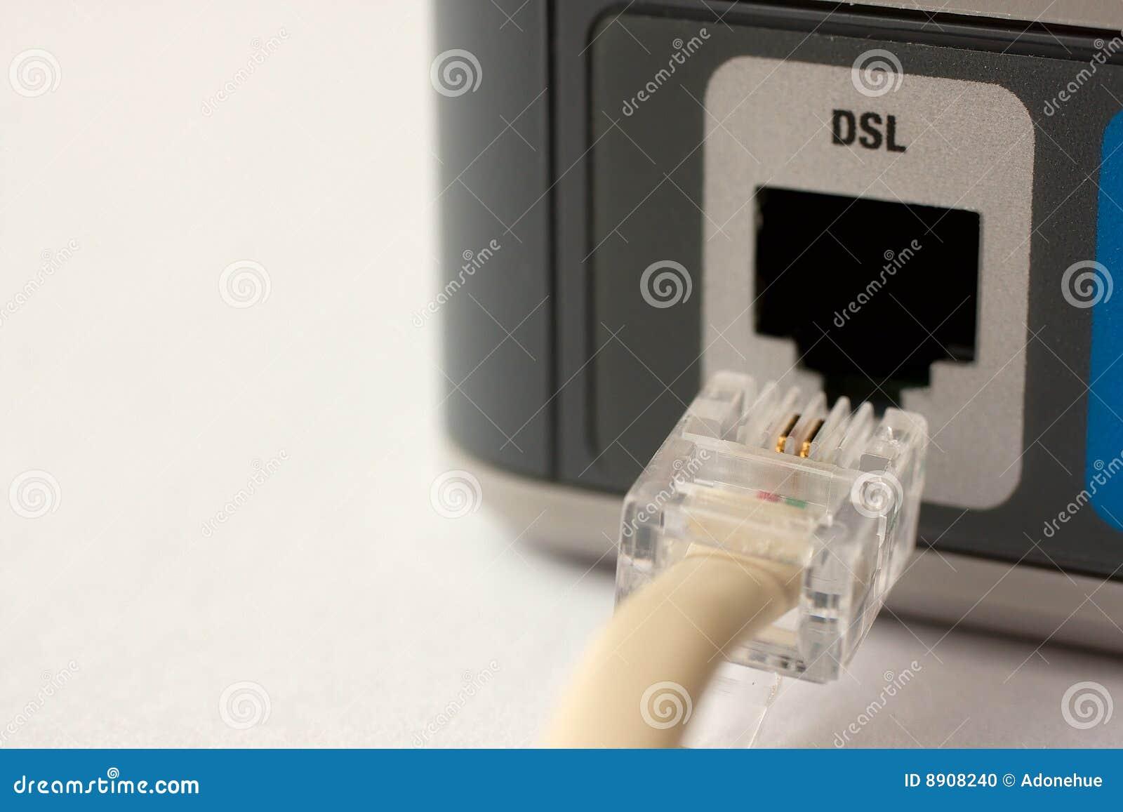 Dosięgać Dsl modem dosięga