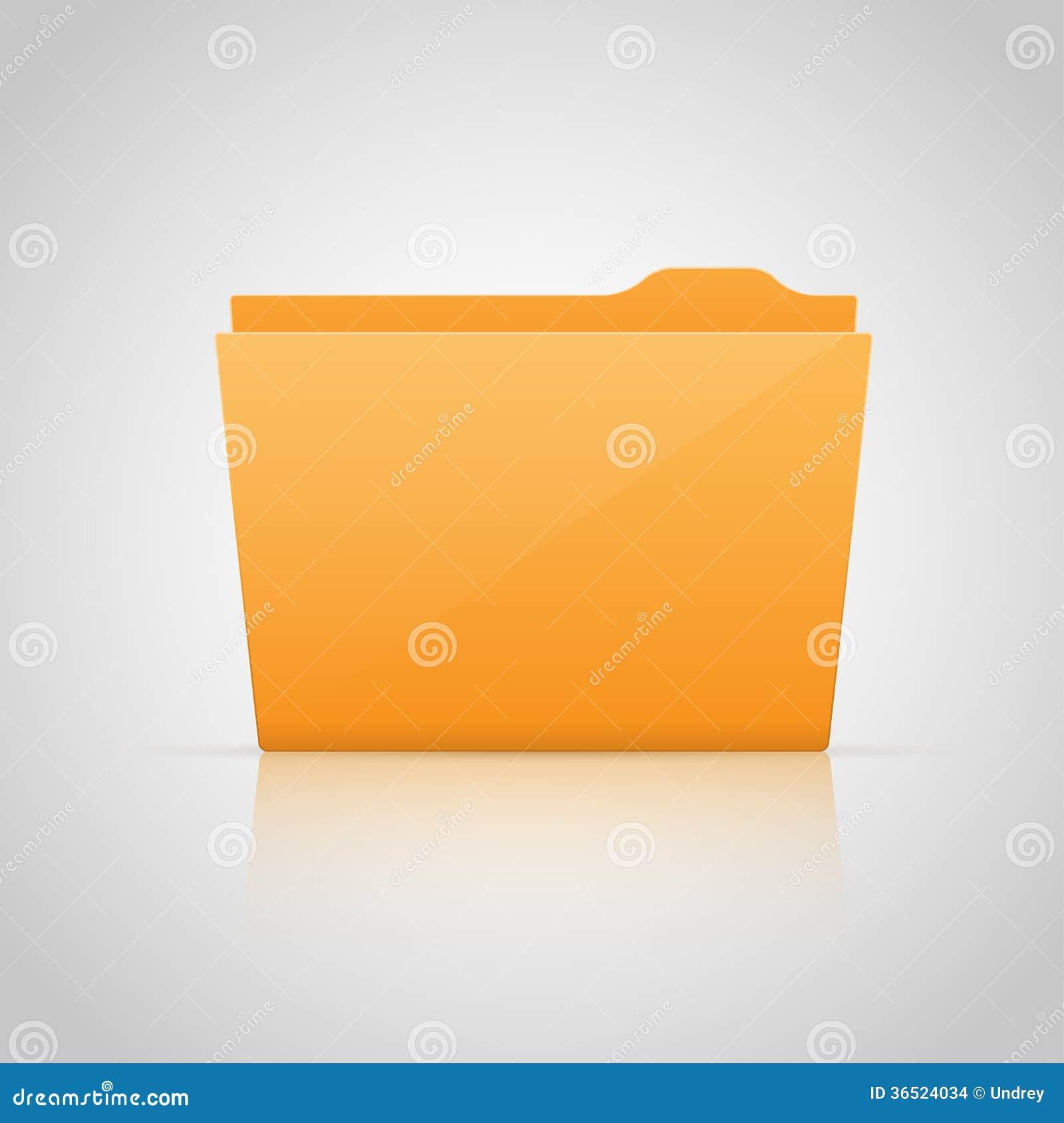 Dossier jaune. Vecteur