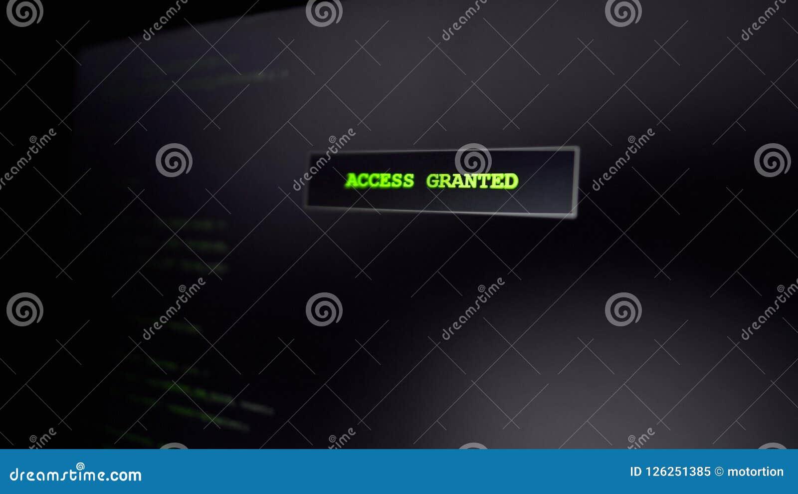 Dostęp użyczający na ekranie, komputerowa przestępca sieka stronę internetową, pomyślna próba