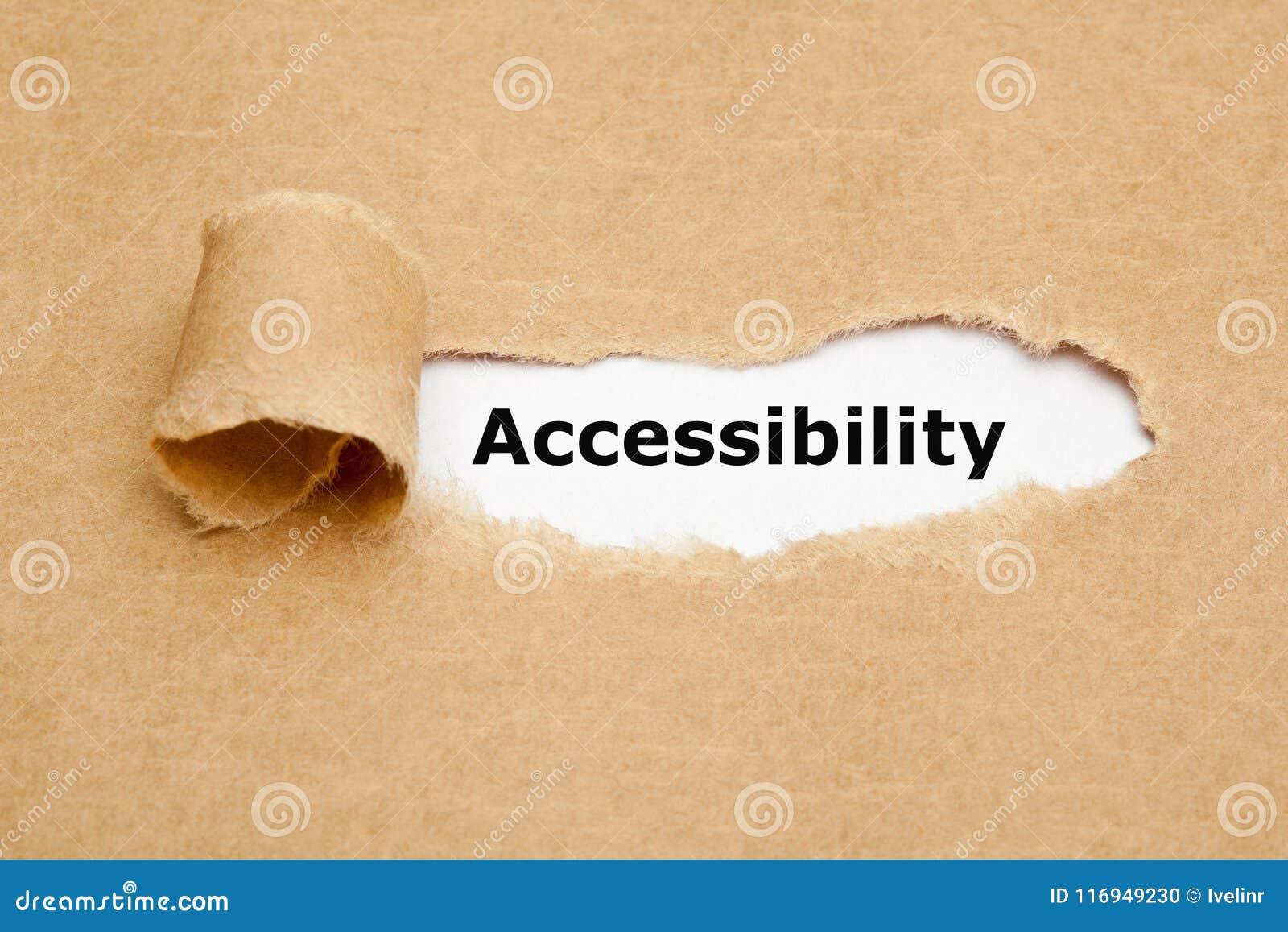 Dostępność Rozdzierający Brown papieru pojęcie