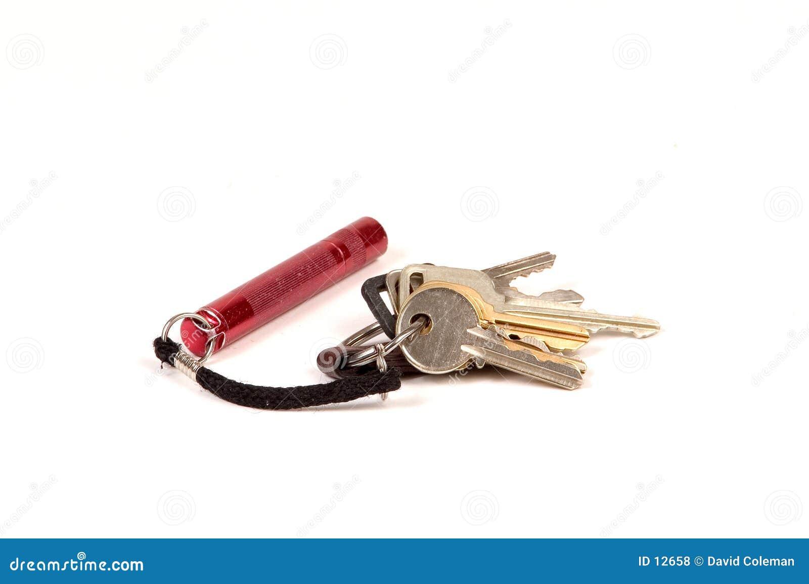Dostałam kółko na klucze mini latarki