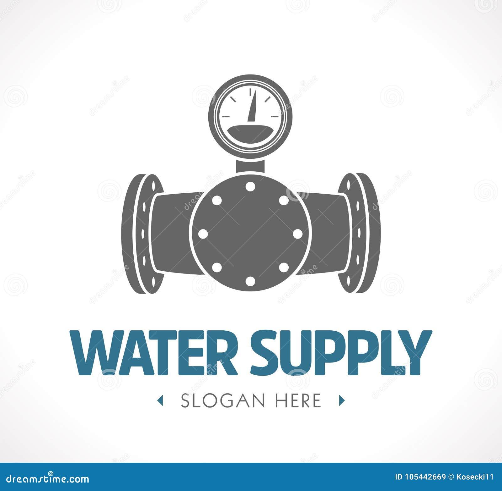 Dostawa wody i kanalizacja - pojęcie logo