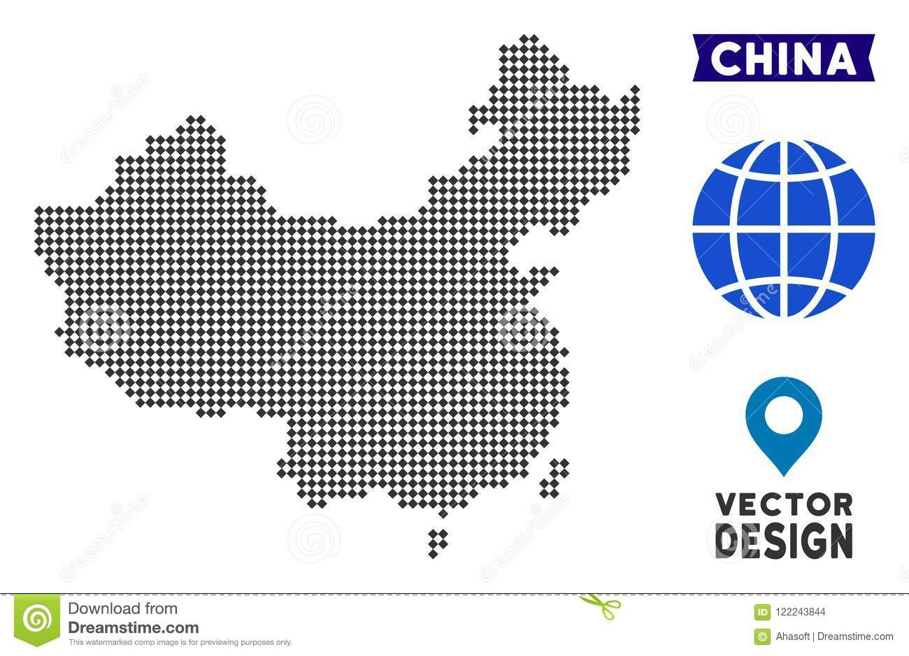 Dot China Map