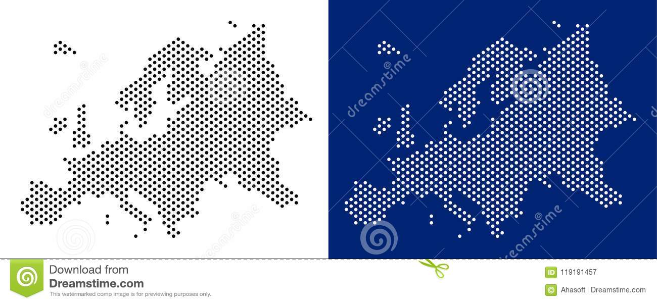 Dot Europe Map stock vector. Illustration of cartography - 119191457