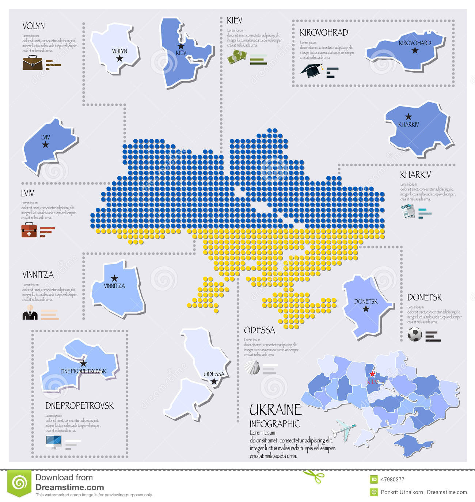 Dot and flag map of ukraine infographic design stock vector download comp toneelgroepblik Images