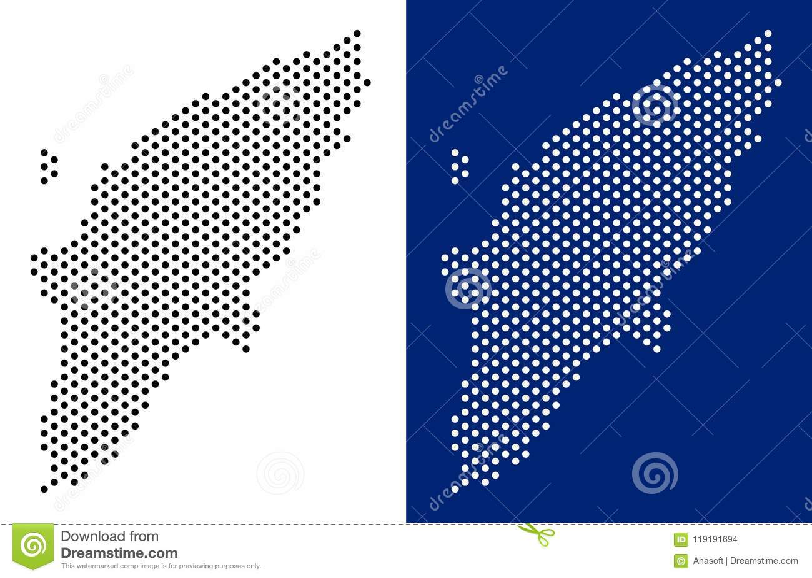 Rhodes Island Greece Map.Dot Greek Rhodes Island Map Stock Vector Illustration Of Greece