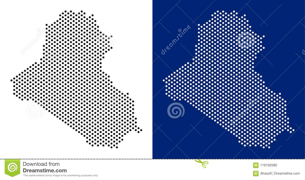 Dotted Iraq Map stock vector  Illustration of nation - 119192080