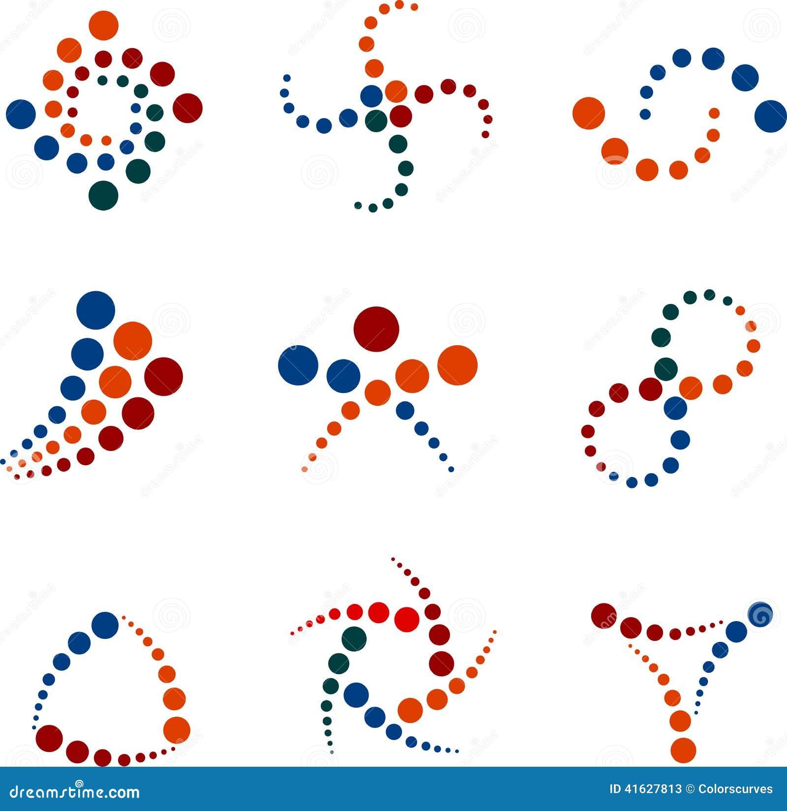 Dot Logos Stock Vector
