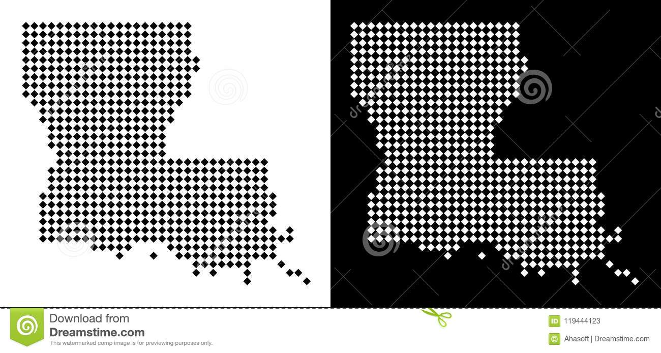 Dot Louisiana State Map stock vector. Illustration of geography ...