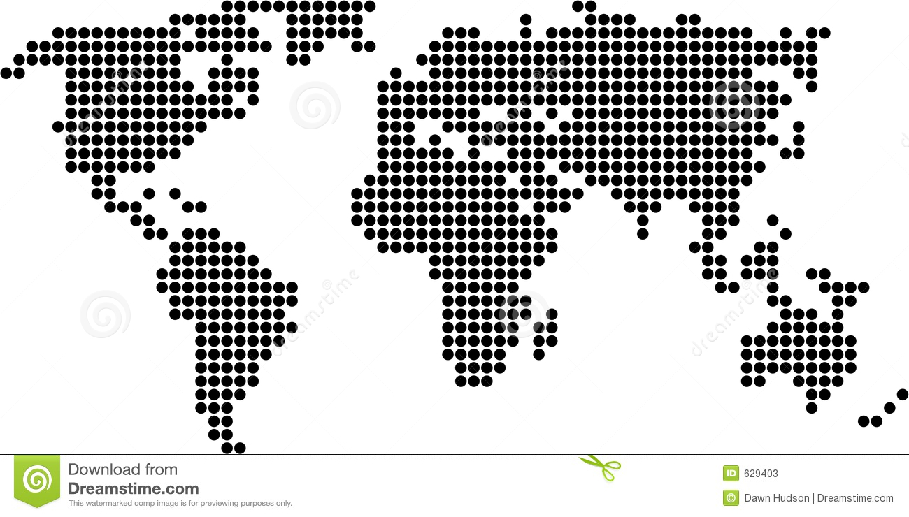 A vector map of the world made of color dots forming a editable 50 beautiful world maps gumiabroncs Image collections