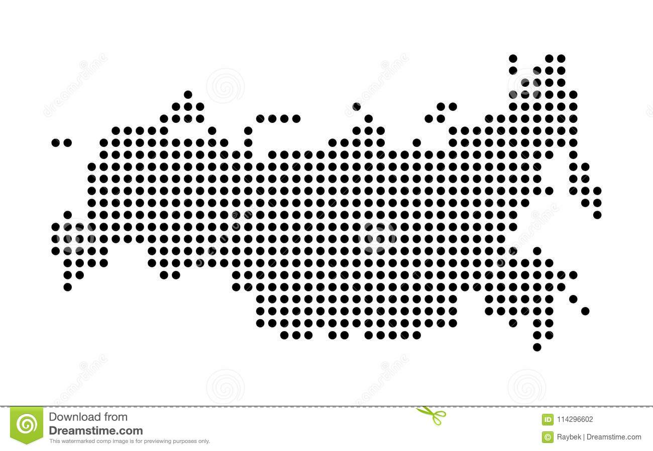 Dot Map Of Russia Stock Illustration Illustration Of Graphic