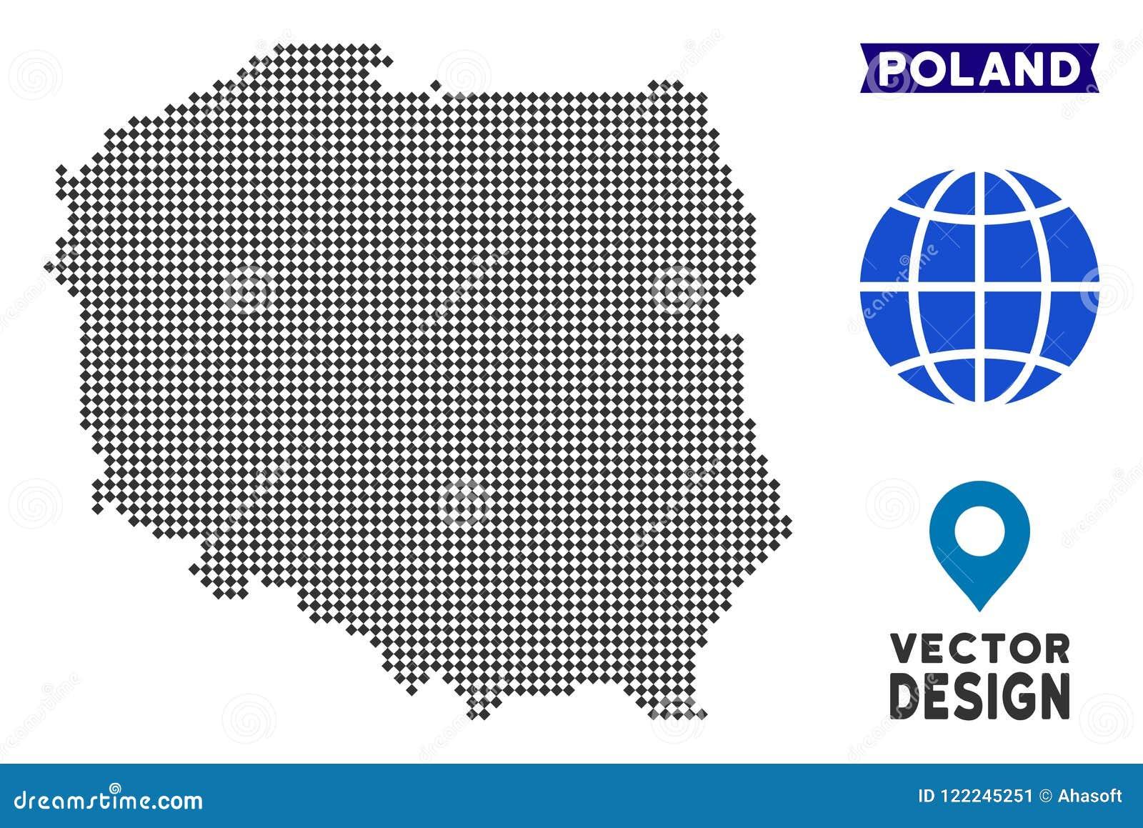 Dot Poland Map