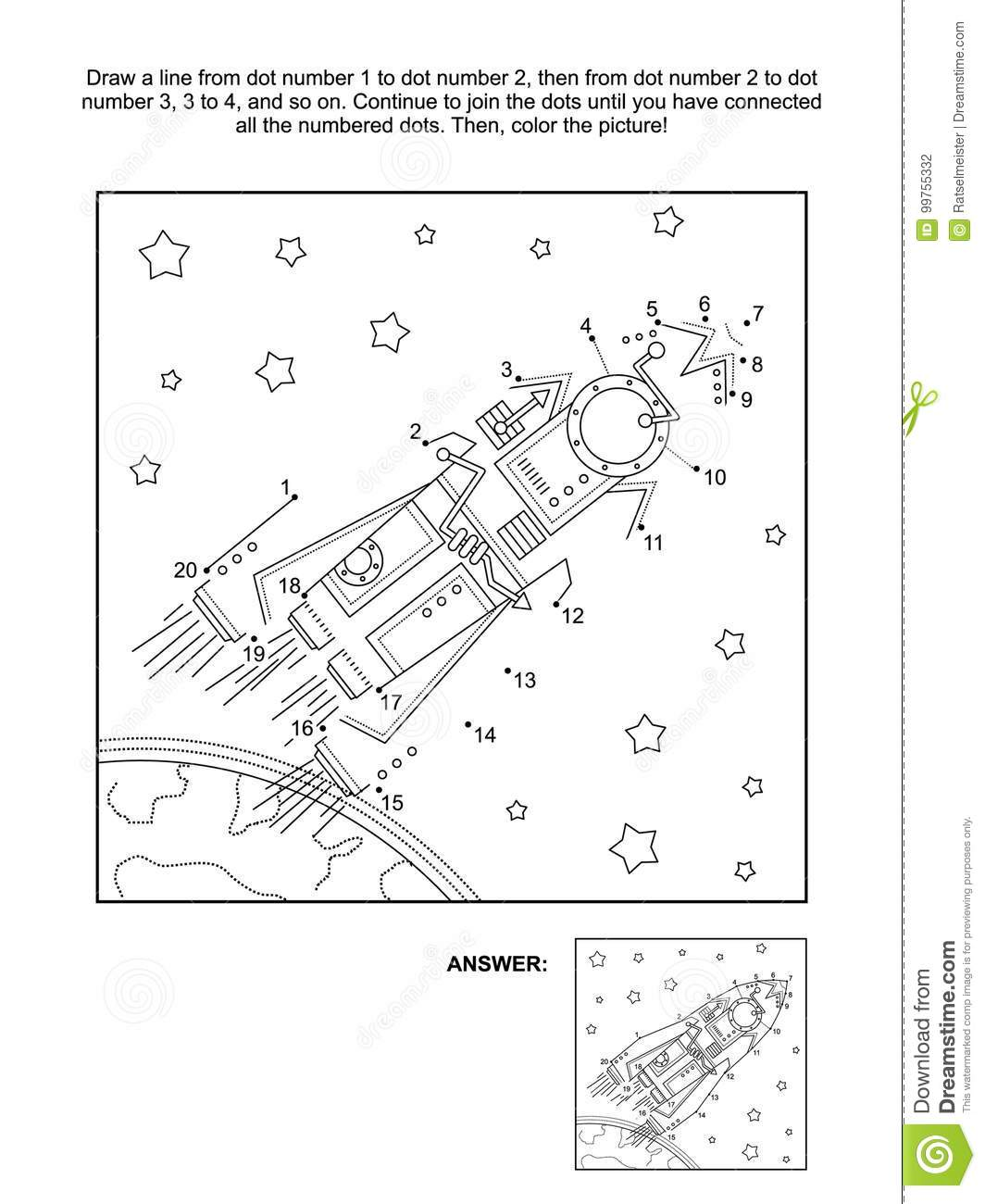 Dot To And Coloring Activity Page