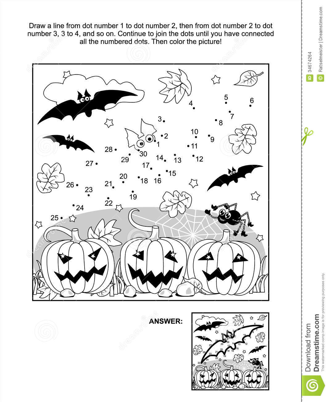 dot to dot and coloring page halloween bat stock images image
