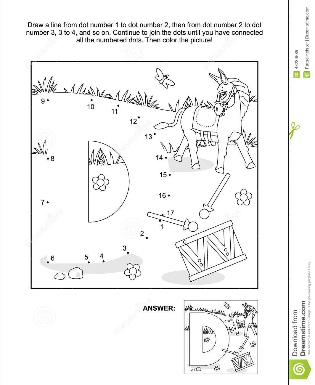 d is for donkey coloring pages - photo #43
