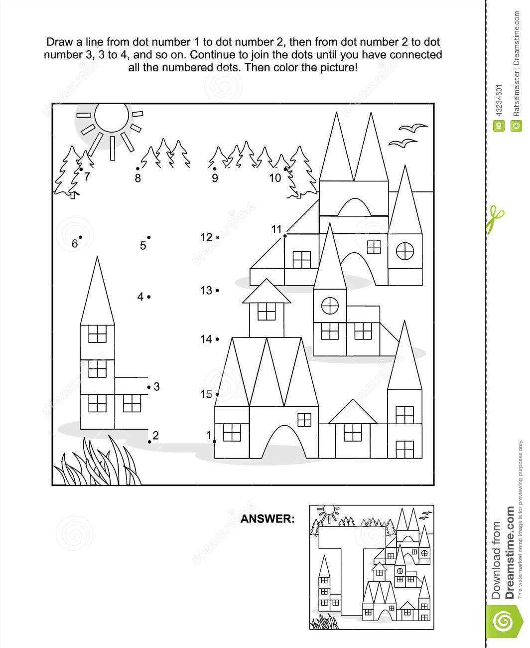 Coloring sheet of the letter t - Dot To Dot And Coloring Page Letter T
