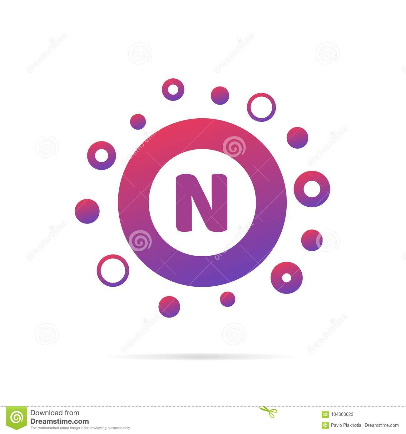 Dots And Letter N Logo With Circles And Dots Abstract Logo Design
