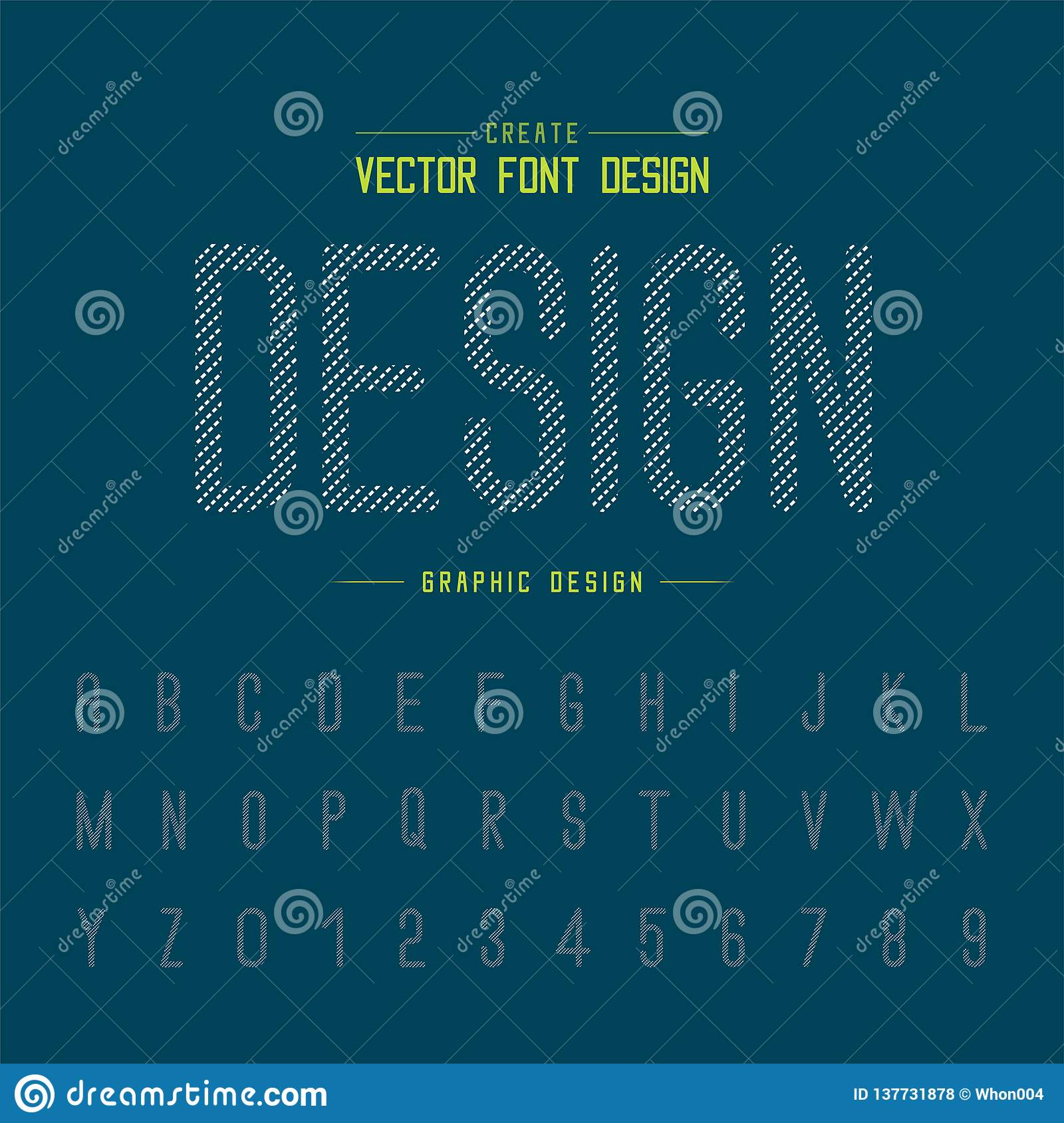 Dotted Font And Alphabet Vector, Letter Style Typeface And