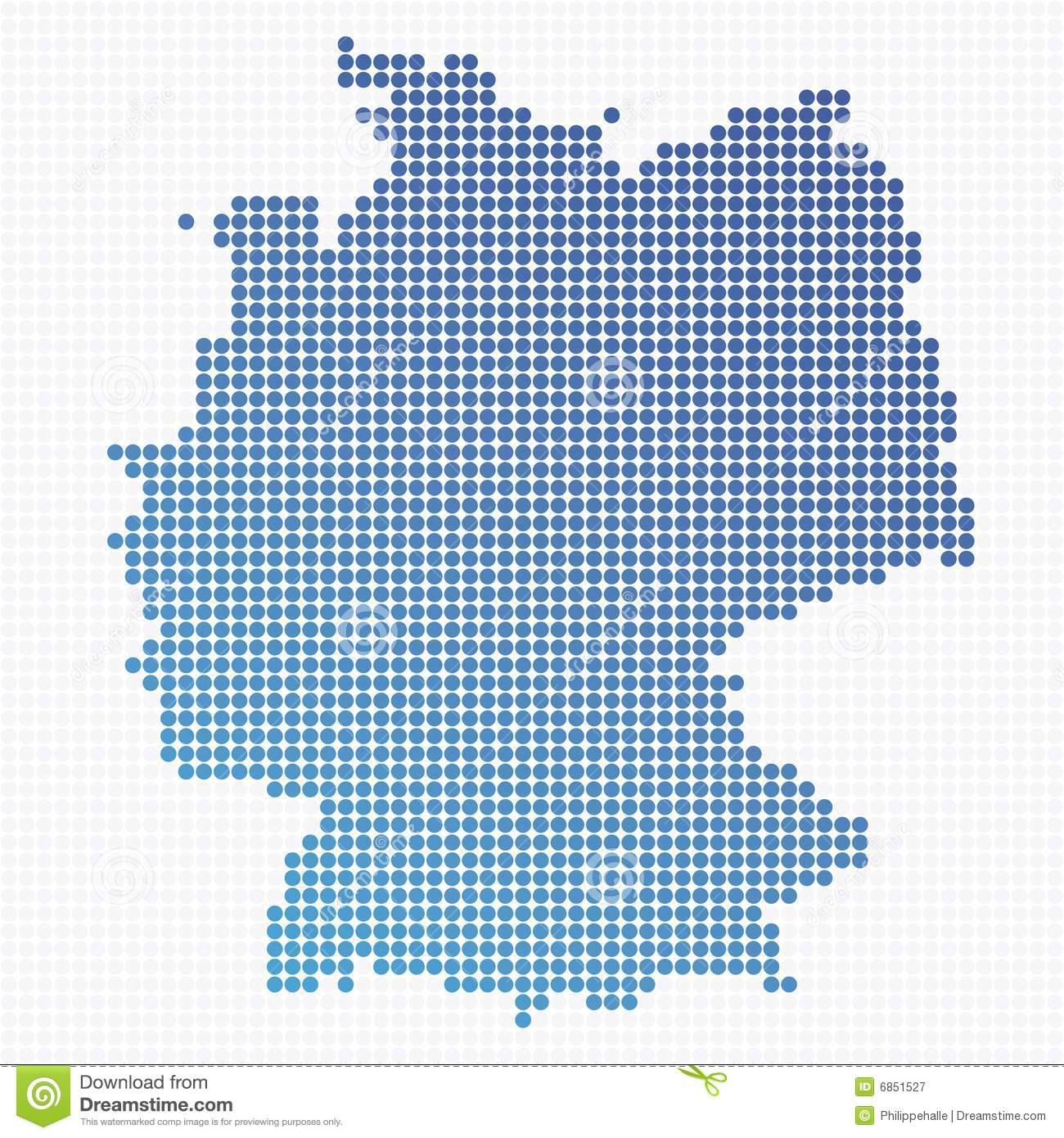 Dotted Germany Map Royalty Free Stock Photography Image - Germany map download