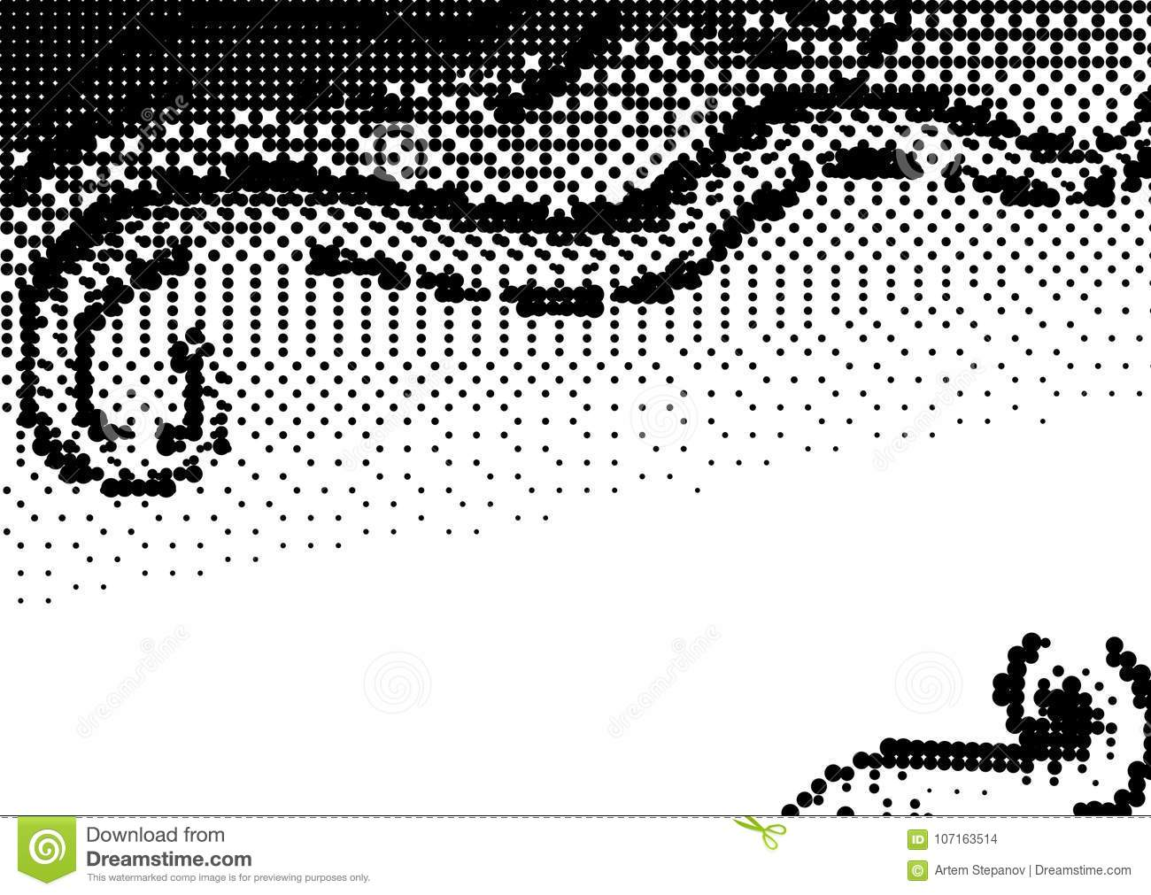Halftone Dotted Background For Business Design Stock Vector