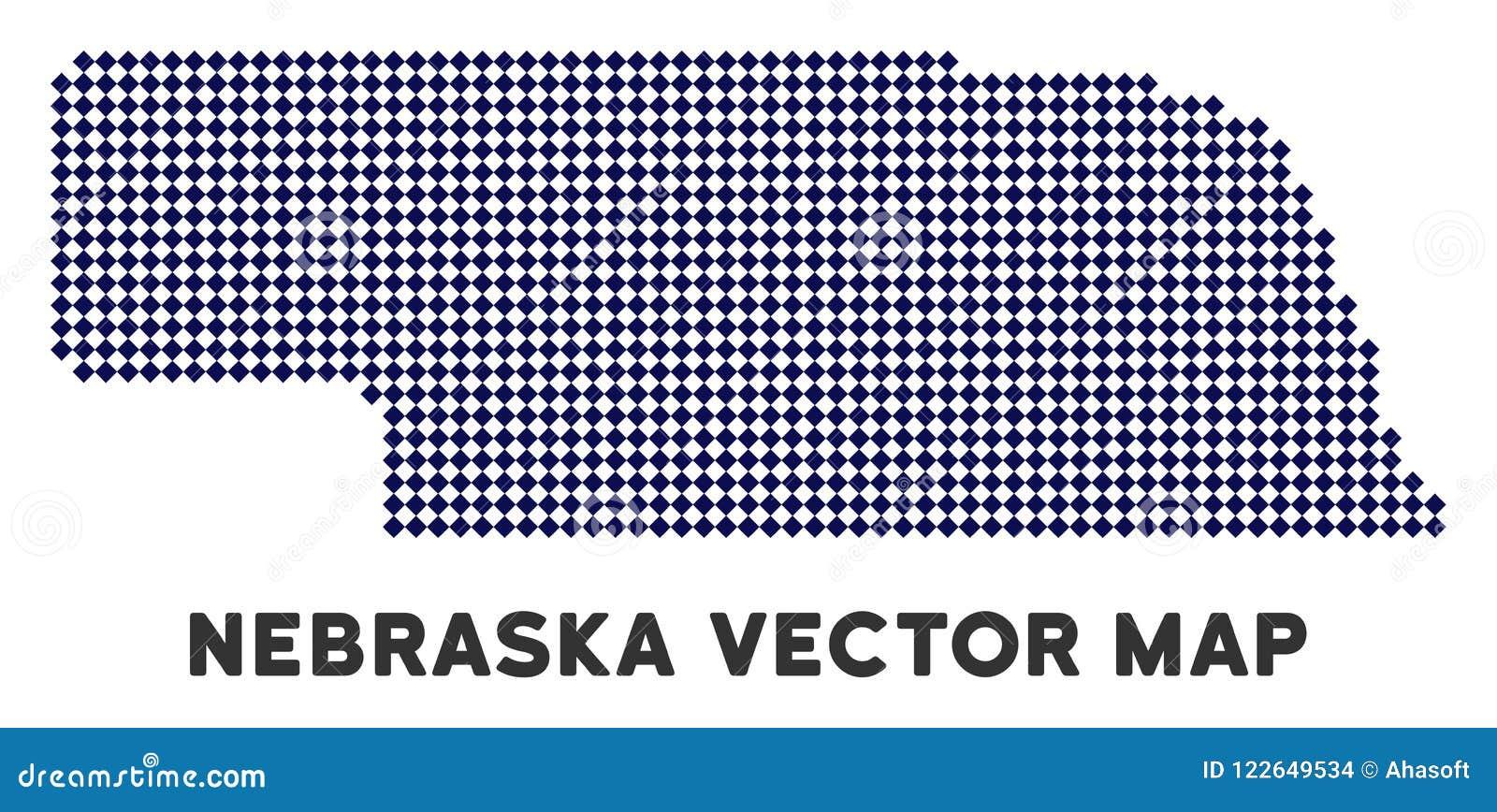 Dotted Nebraska State Map Stock Vector Illustration Of Land 122649534