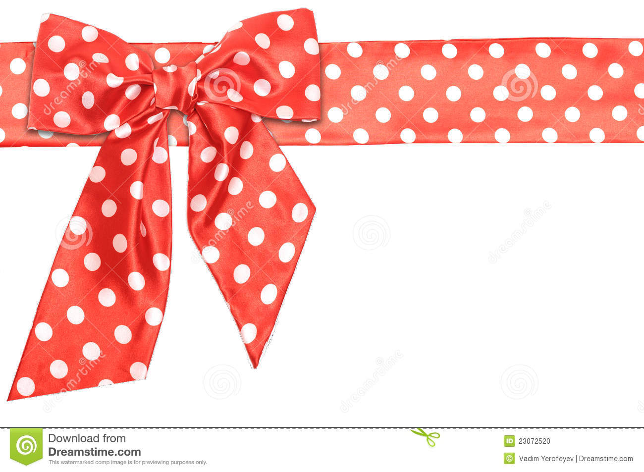 dotted red ribbon and - photo #26