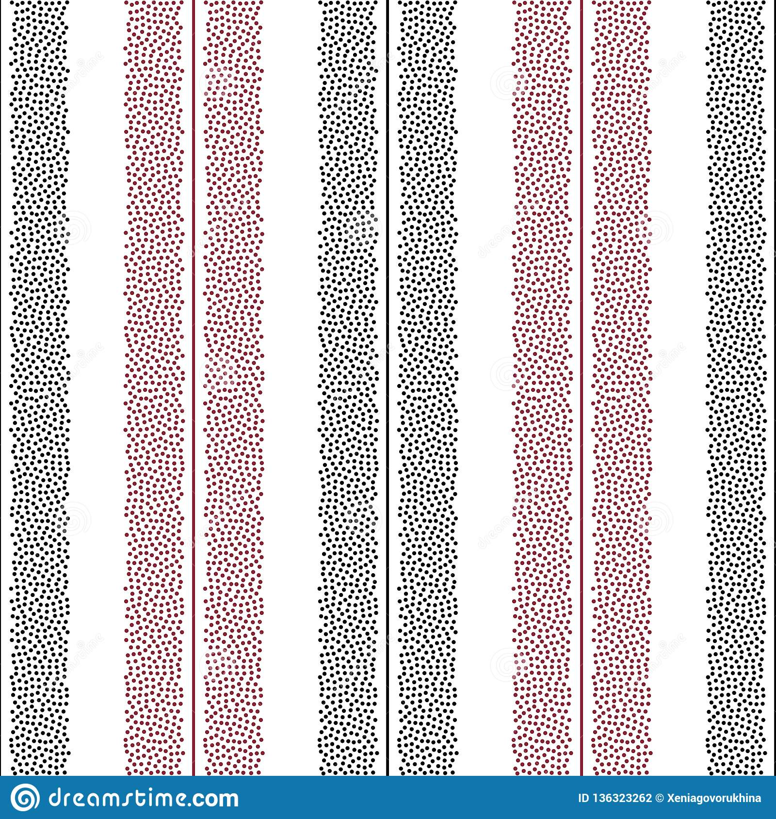 Dotted Stripes Vector Seamless Pattern Abstract Dots Texture For