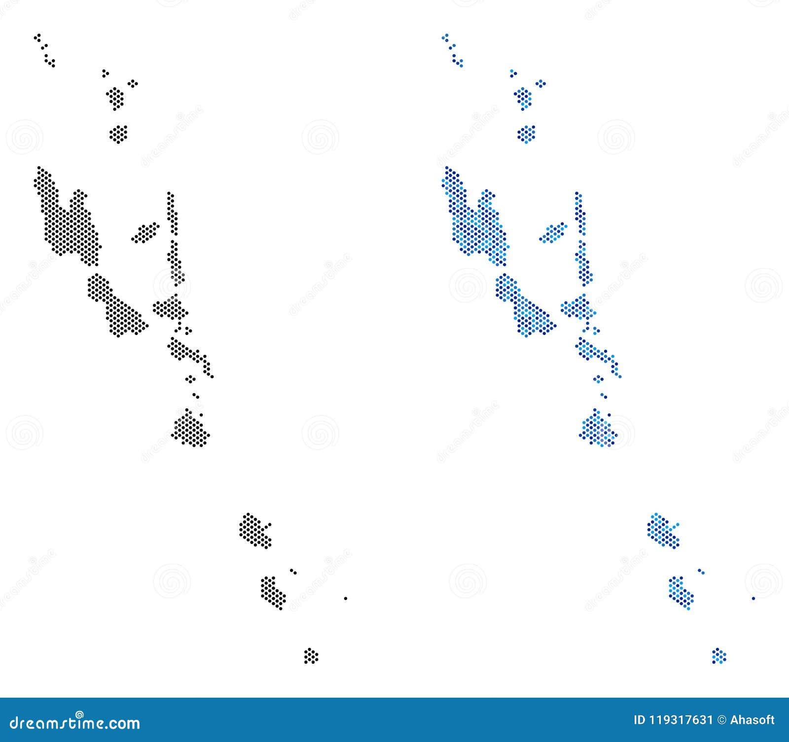 Dotted Vanuatu Islands Map Abstractions Stock Vector ...