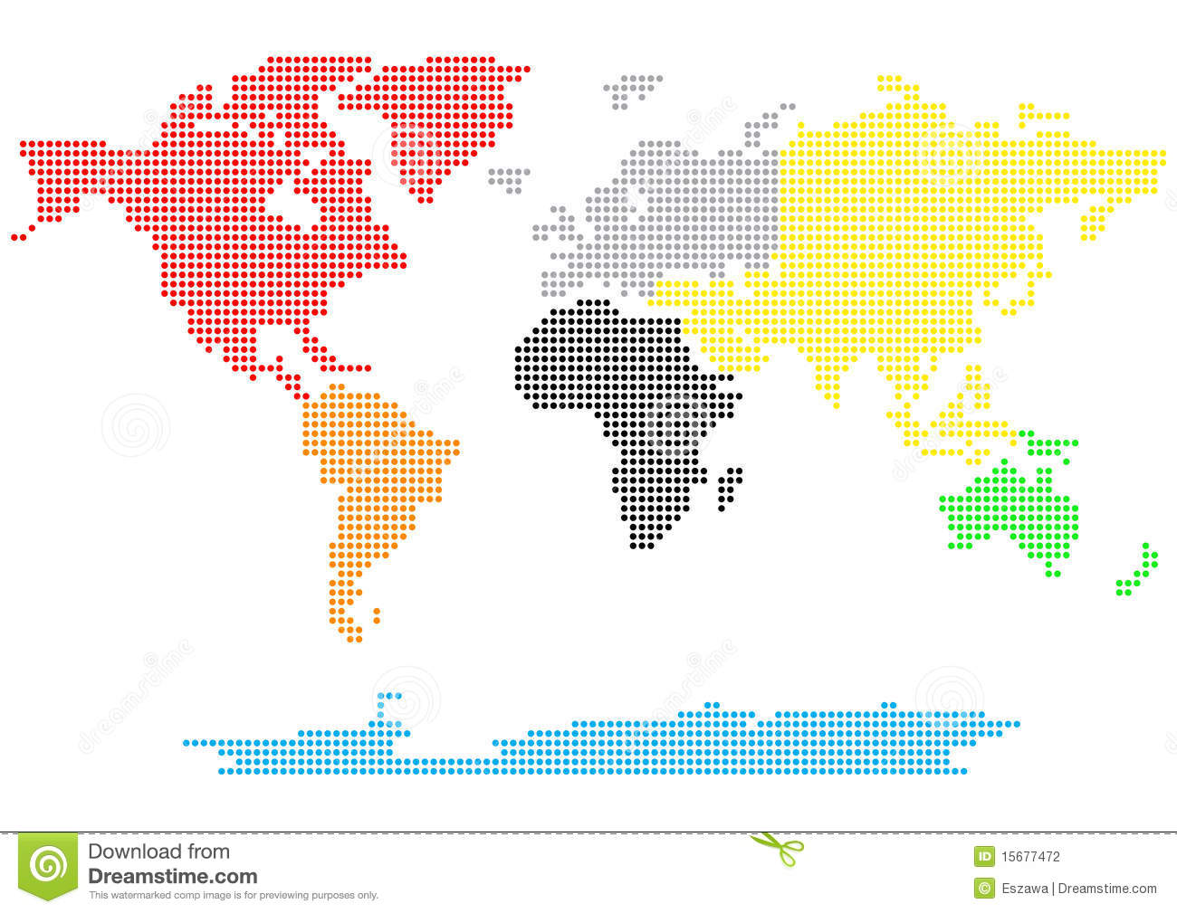 Dotted world map stock vector. Illustration of world   15677472