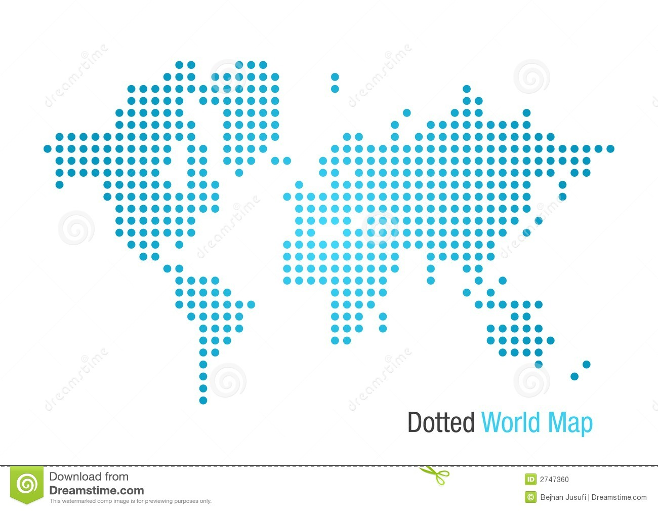 Dotted world map stock vector illustration of africa 2747360 map of the world formed by dots gumiabroncs