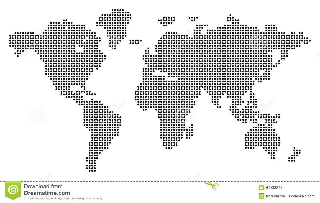 Dotted world map stock vector illustration of business 64333243 dotted world map royalty free vector gumiabroncs Image collections