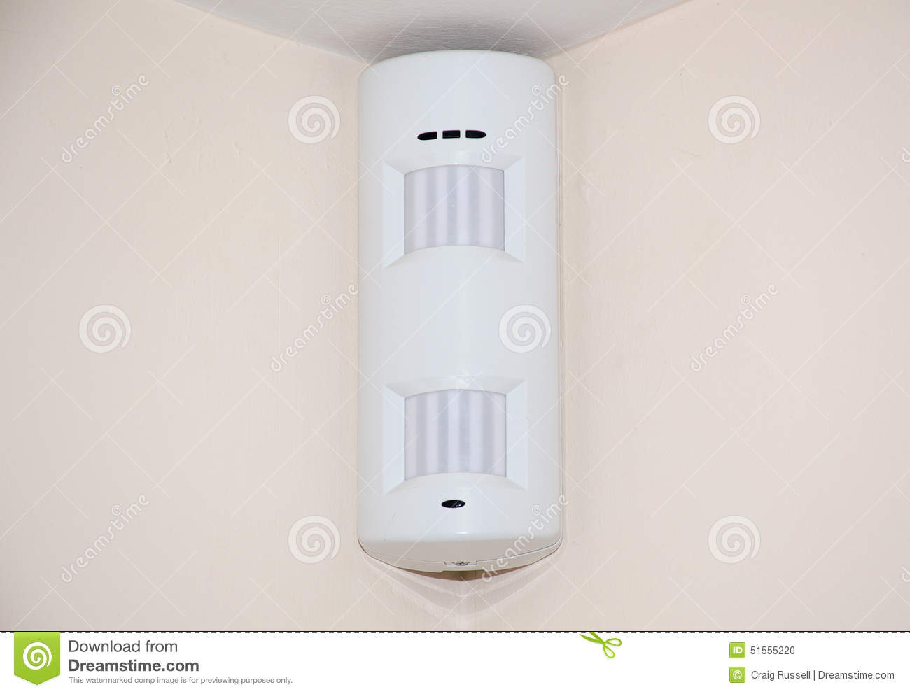 Double Alarm Pir Sensor Stock Photo Image Of Home System 51555220 Based Security