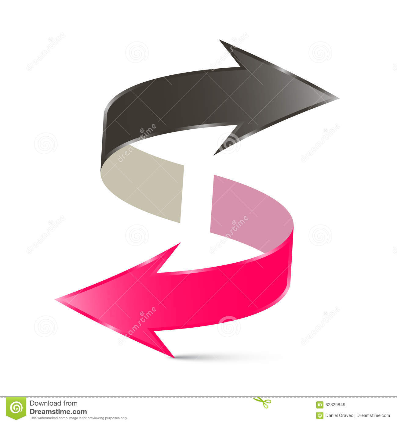 Double Arrow Vector Illustration Stock Vector Illustration Of