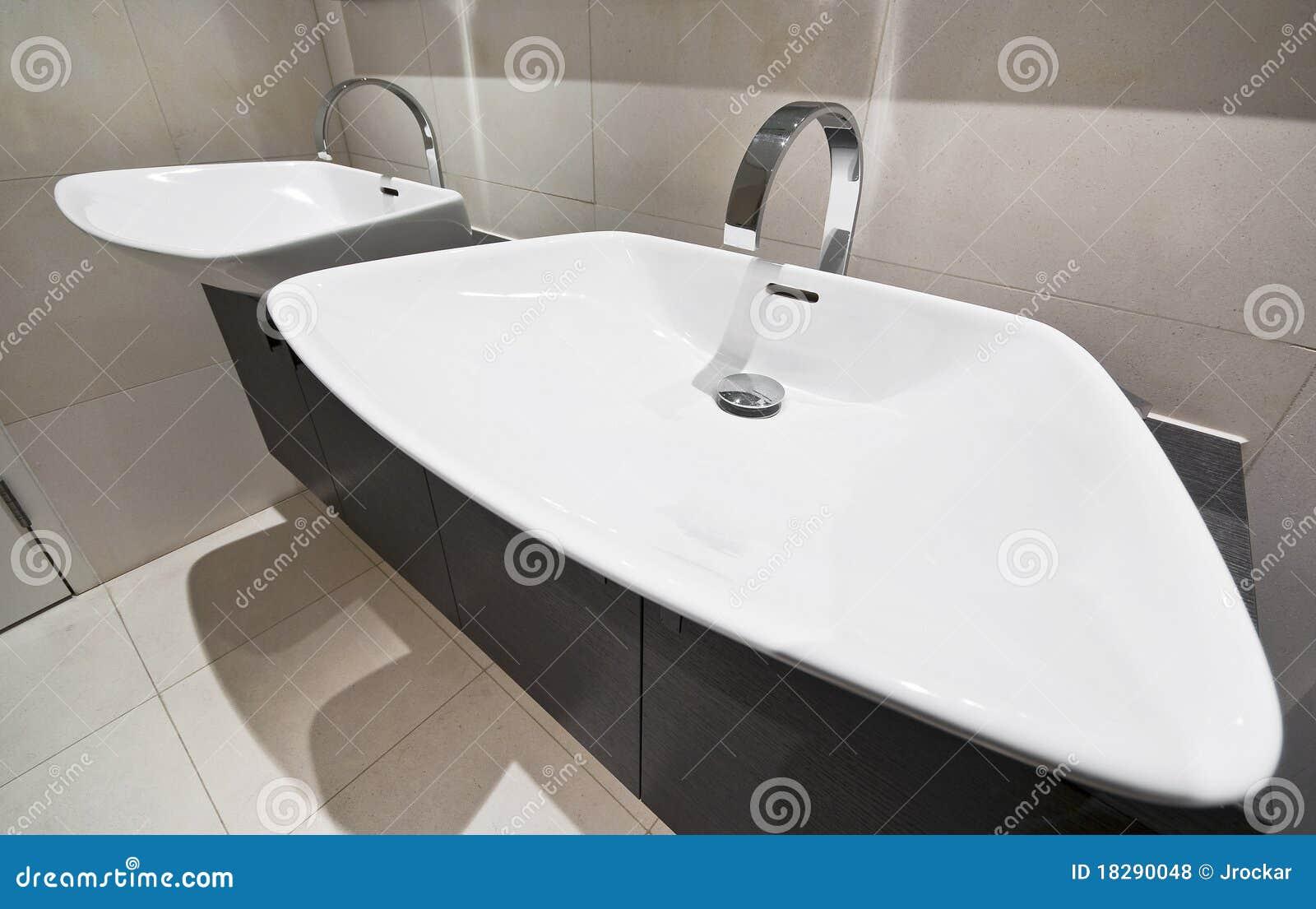 Double bathroom hand wash basin royalty free stock photos - Double wash basin bathroom ...