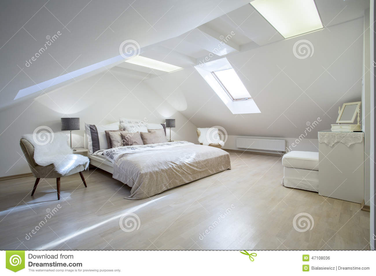 Double bed with a lot of cushions stock photo image 47108036 - Beautiful snooze bedroom suites packing comfort in style ...