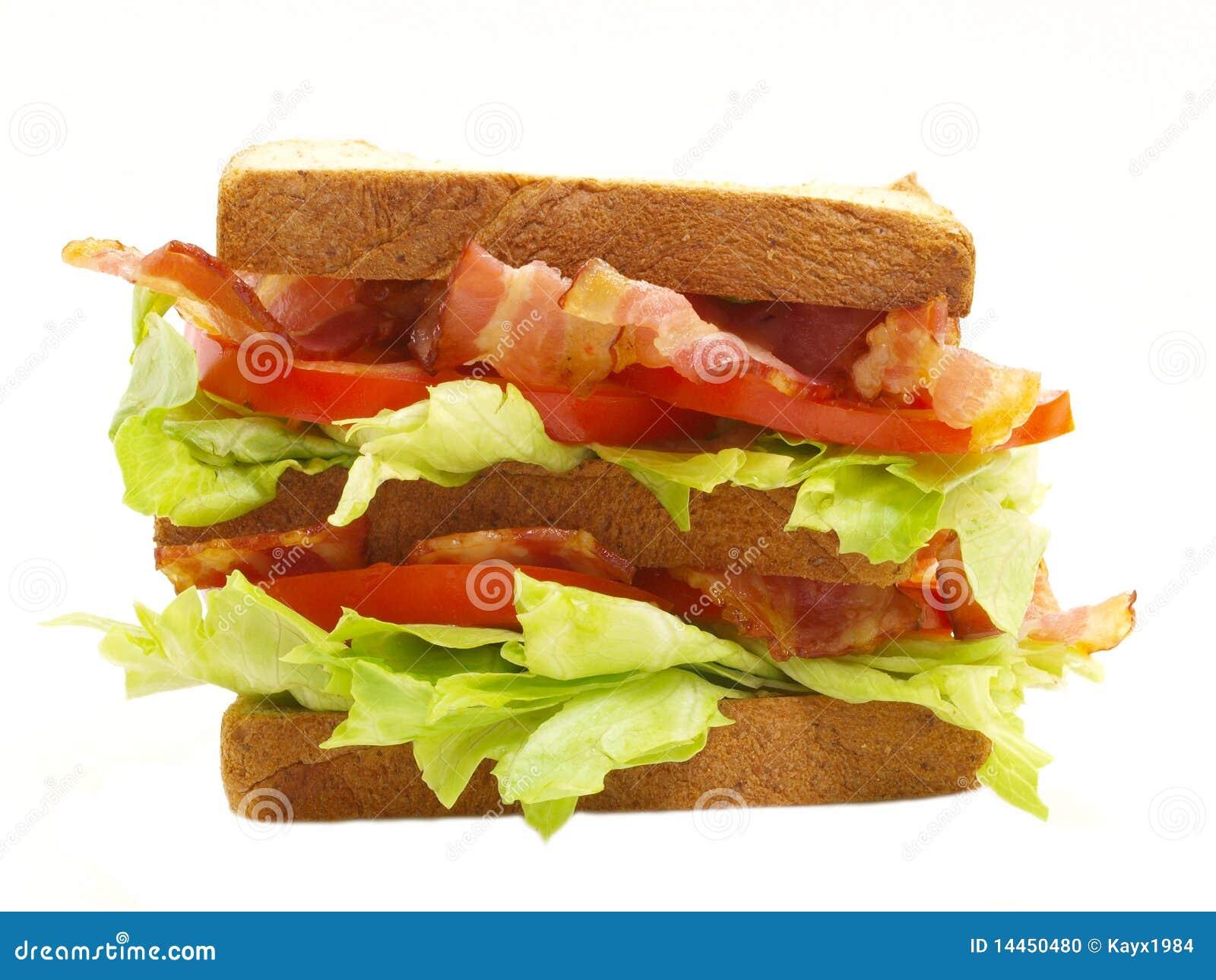 Double Blt Sandwich Stock Photo - Image: 14450480