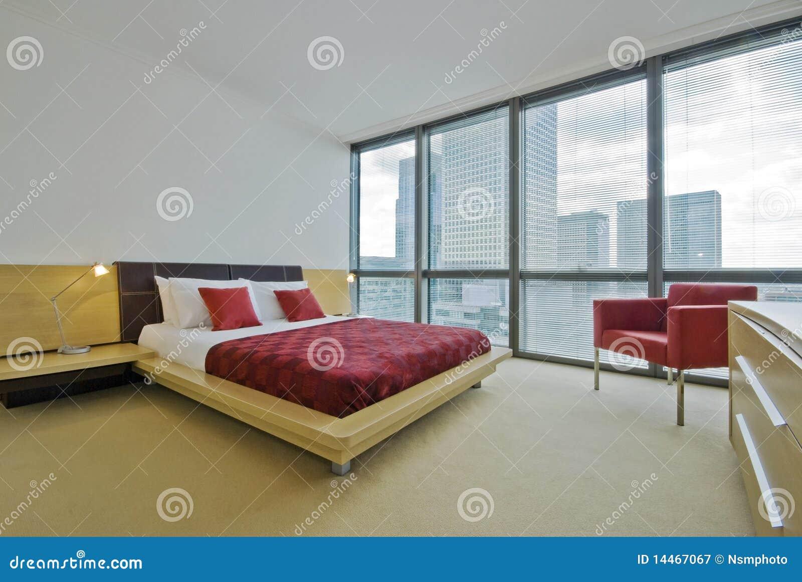 Double chambre coucher moderne de luxe photographie for Chambre de coucher moderne