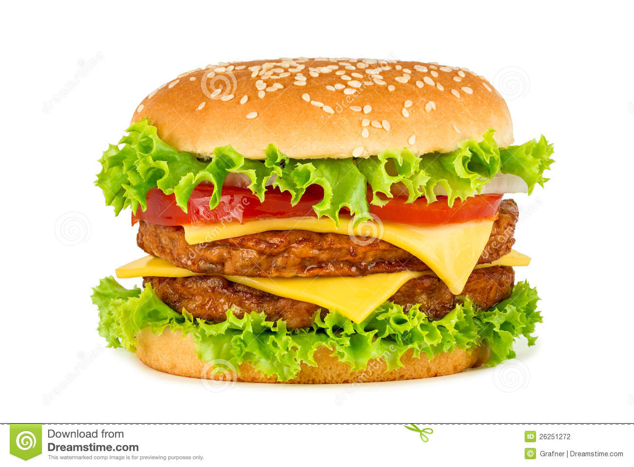 Double Cheeseburger Stock Photography - Image: 26251272