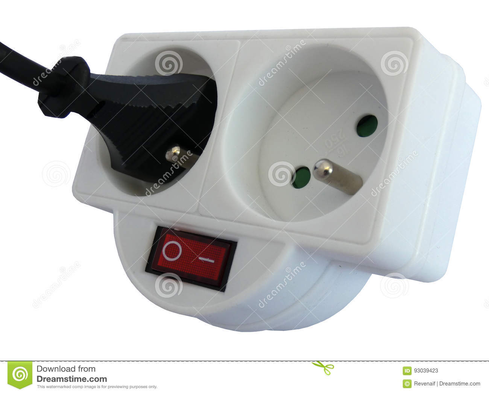 Double de robinet de débouché avec la prise insérée