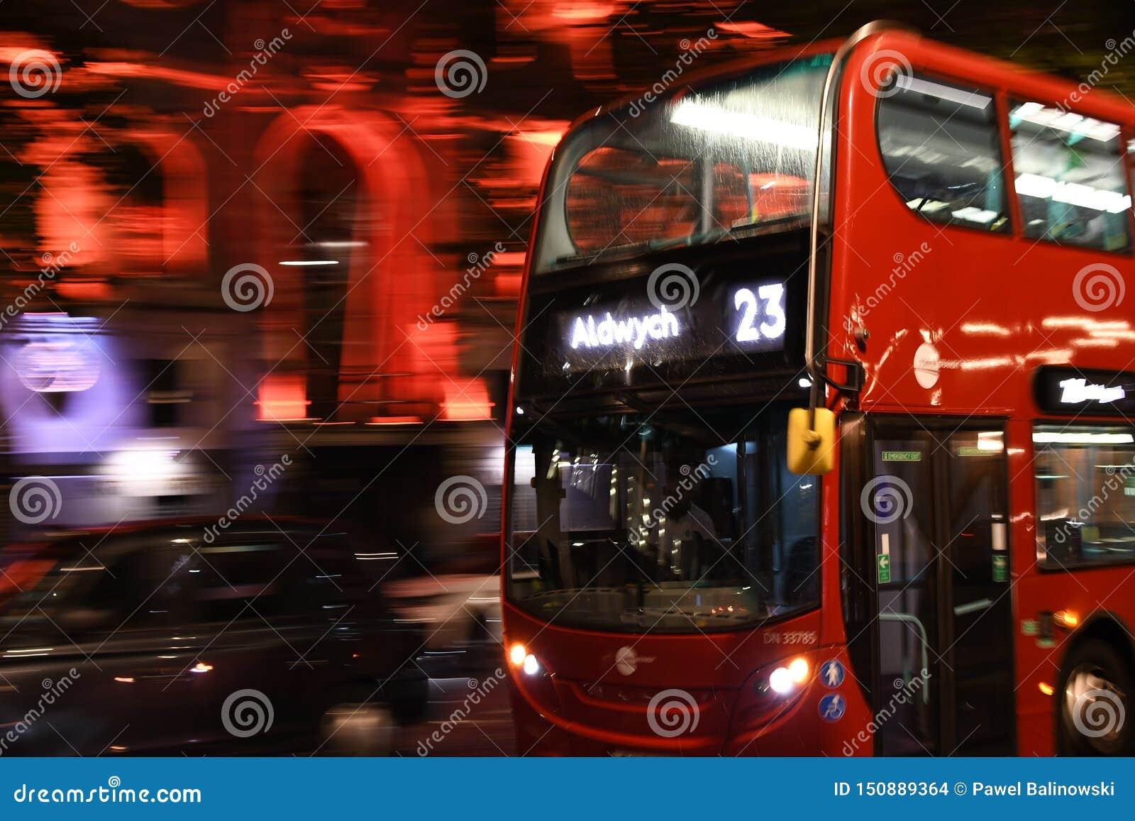 Bus on the London street