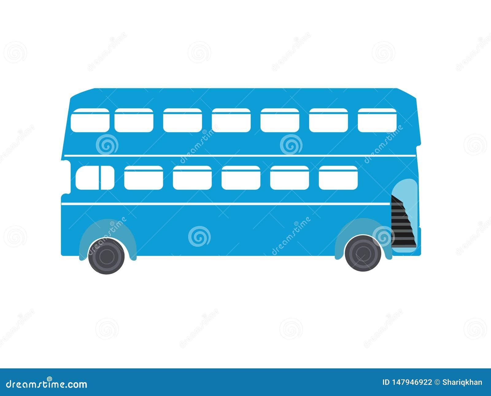 Double Decker Bus Illustration Logo Image Icon EPS file Availabe